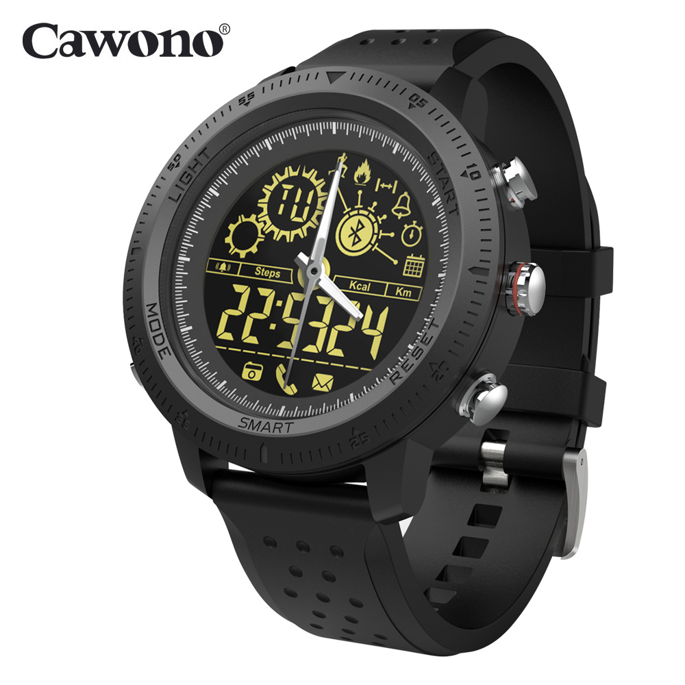 Cawono CW22 Smart Watch Luminous Dial Waterproof 5ATM Pedometer Long Standby Spo
