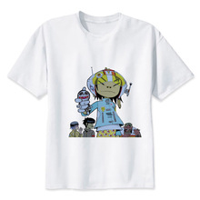 Gorillaz  t shirt men Summer print T Shirt boy short sleeve with white color Fashion Top Tees MRR299