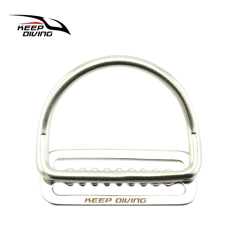 316 Stainless Steel Scuba Diving Keeper Clip & Bent D Ring Belt Buckle BCD Equipment For Water Sports