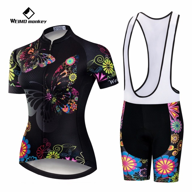 Cycling Set 2018 Bike Jersey Bib Shorts summer road Bike suit MTB Bicycle  Top bottom Maillot Ropa Ciclismo Black Butterfly shirt 17bbcdf73