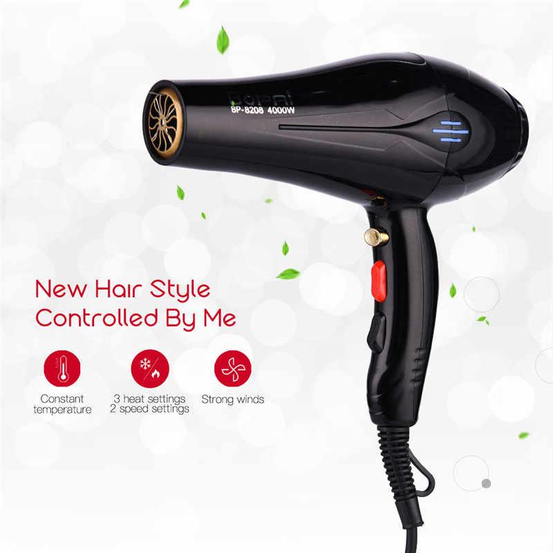 4000 W Мощный профессиональные салонные для волос барабан отрицательных ионов Фен электрический фен Горячая/холодный ветер с воздуха отсоединяющаяся насадка