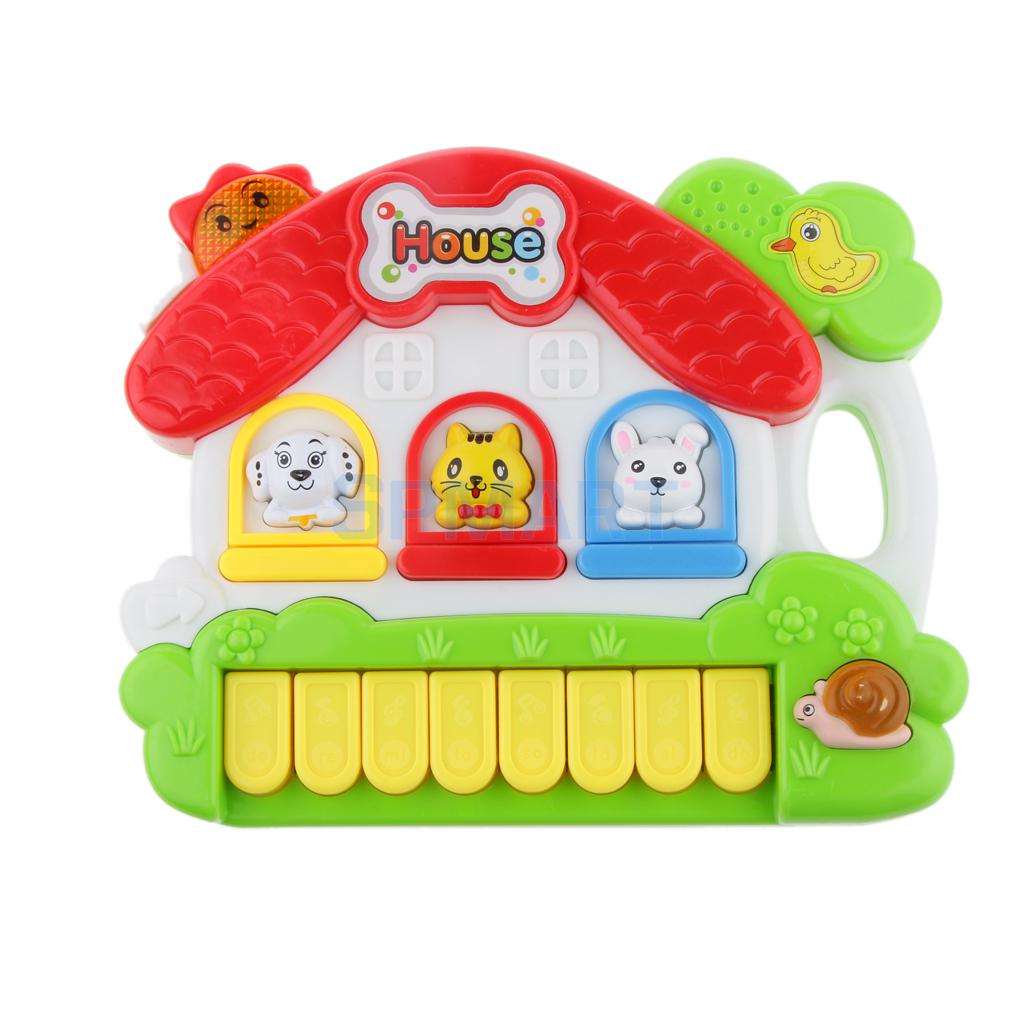 Kids Activity Toy Learning Cottage, Music Lights Games, Animal Shape House