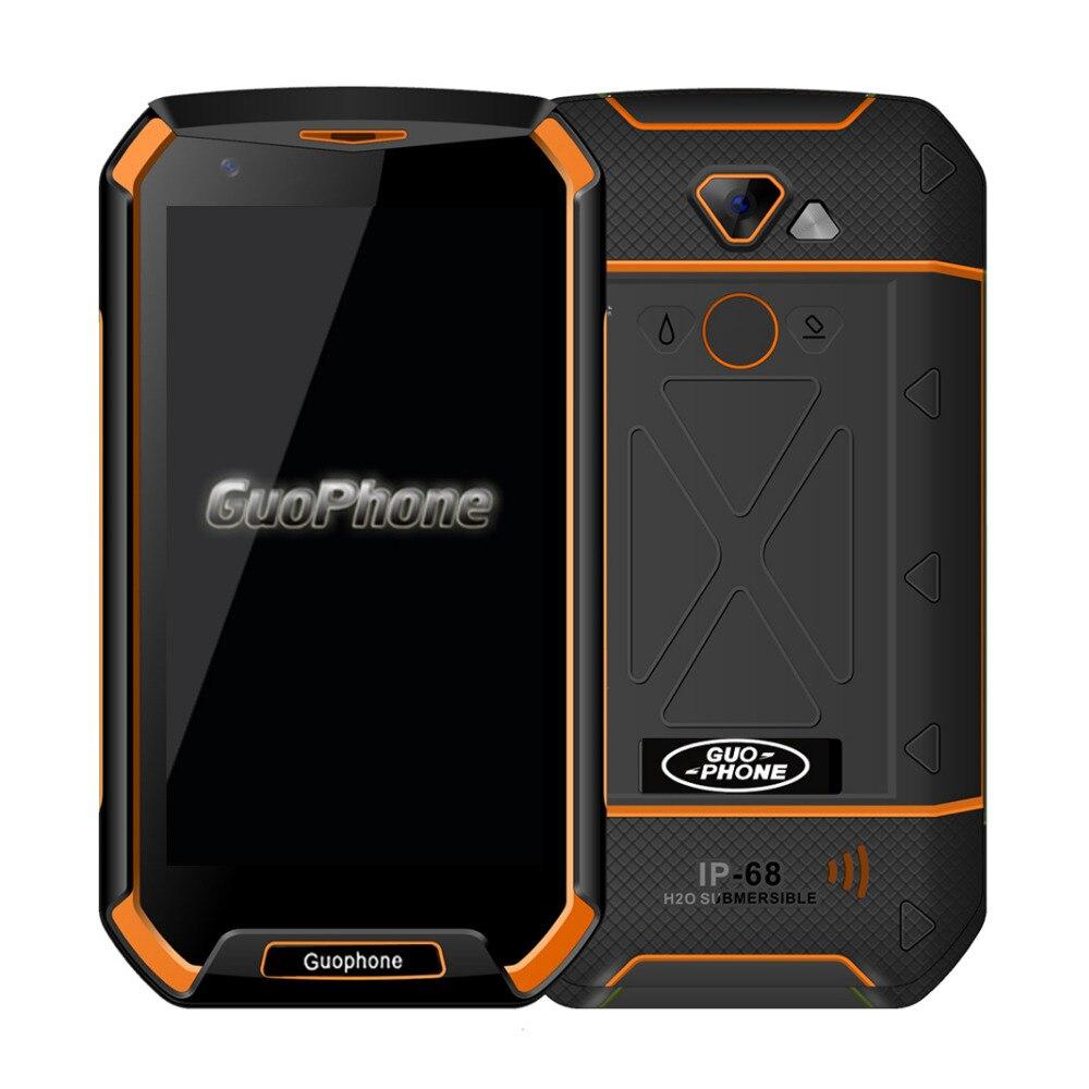 Zello PTT Walkie Talkie Smartphone Guophone V16 IP68 Waterproof 1GB 16GB 4800mAh Big Battery wireless charging