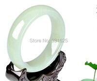 Натурального Хотан Yu браслет Красота леди подарок ювелирные изделия + сертификат + коробка 58 62 мм
