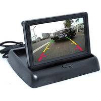 Auto Assistance 4.3 tft LCD Foldable Car Rearview Displayer Monitor with Backup Radar Parking Sensor Reverse Rear View Camera