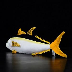 Image 4 - 40 センチメートル実生活マグロぬいぐるみリアルな海の動物魚ぬいぐるみ子供のためのぬいぐるみのおもちゃ & ホビー