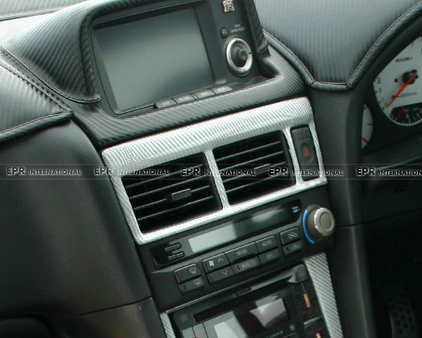 For Nissan R34 Gtr Carbon Fiber Air Con Surround Fibre Interior Trim