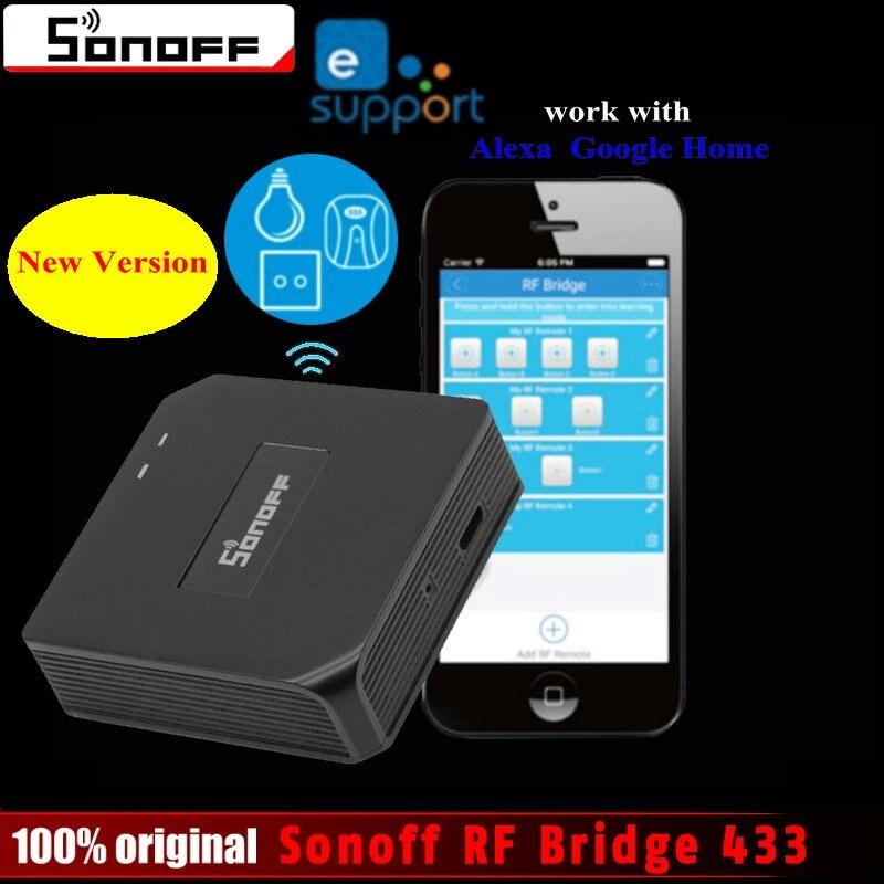 Original Sonoff RF Brücke 433 Smart Home Automation Modul Wifi Schalter Universelle Timer Diy 433 Mhz Fernbedienung ersatz