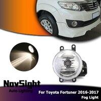 NOVSIGHT Auto Car Fog Lights Driving Fog Lamp Assembly Halogen Bulbs for Toyota Fortuner 2016 2017 D35