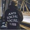 ANTI SOCIAL SOCIAL CLUB ASSC Classic HOODIE Hiphop Fashion Trend Brand Men Kanye Yeezy Hoodies Skate Hoodies Men Pullover 1:1