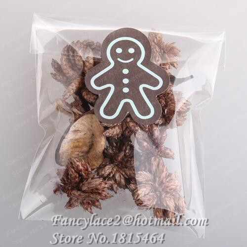 60pcs Christmas Seal Sticky Gingerbread Man Seal Stickers Gift Stickers Biscuits Packing Box Stickers Tags Labels Stationery