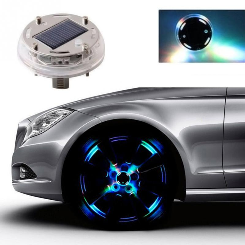 Waterproof 4 Modes 12 LED Car Auto Solar Energy Flash Wheel Tire Rim Light Lamp Tire Light Lamp Decoration