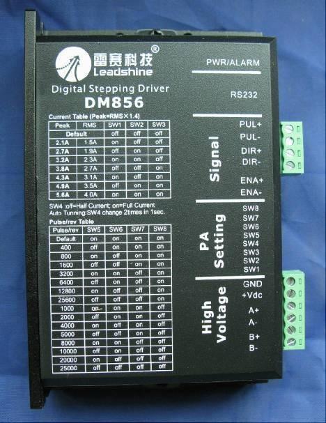 все цены на Leadshine DM856 32 bit DSP digital 57 86 / two-phase stepper motor driver 20-80VDC