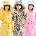 Nueva Albornoz Con Capucha Batas Para Mujeres Albornoz de Coral Polar Bata Caliente Mujeres Albornoz de Las Señoras cosplay animal Baño Robe