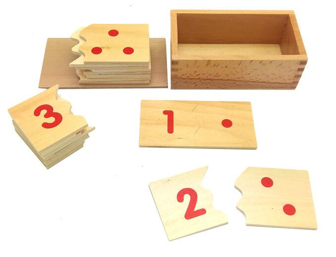 Montessori Teaching Aids 1 10 Number and Counter Match up Puzzle ...