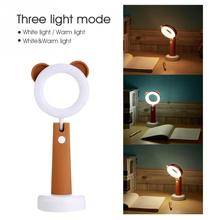 Mini cute Desk Lamp LED Light Eye-protection Adjustable brightness Best Gift for Students Kids Children Rechargeable