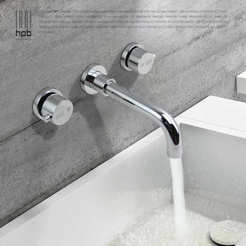 Hpb New Arrival Contemporary Bathroom Basin Faucet Wall