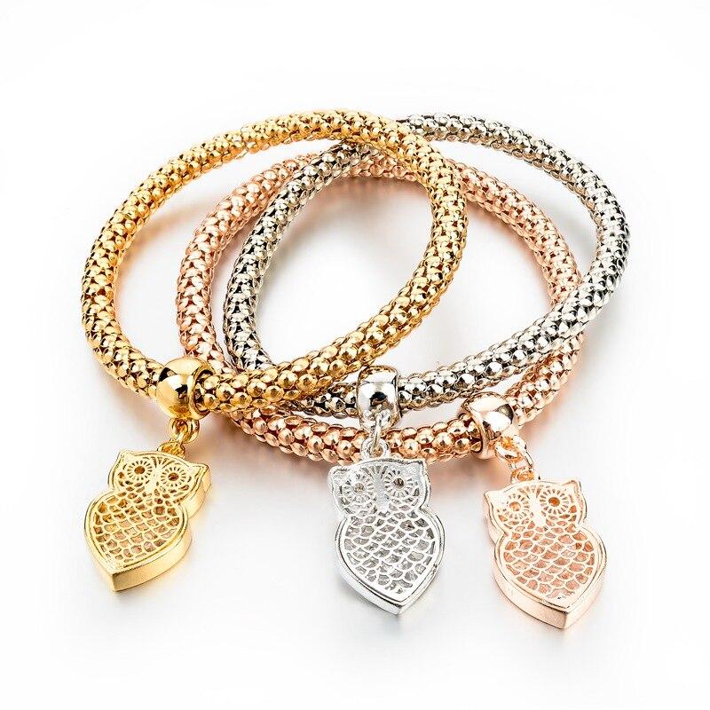 2016 New Fashion Bracelets Bangles Jewelry Gold Silver Chain ...