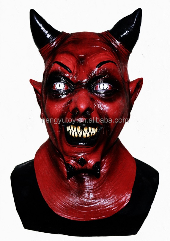 2014 Newest Deluxe High Quality Halloween Latex Devil Mask image
