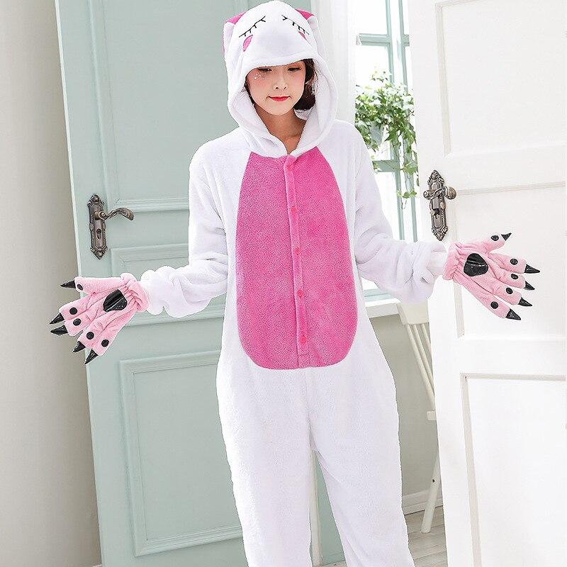 Funny Animal Love Rabbit Onesie Kigurumi Jumpsuit For Adult Pajamas Women For Sleepwear Men Bunny Pyjamas Cosplay Party (4)