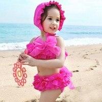 EMS DHL Free Shipping Toddler Girls Kids Separated Tiers Layered Swimwear Beachwear For Baby Girls HOT