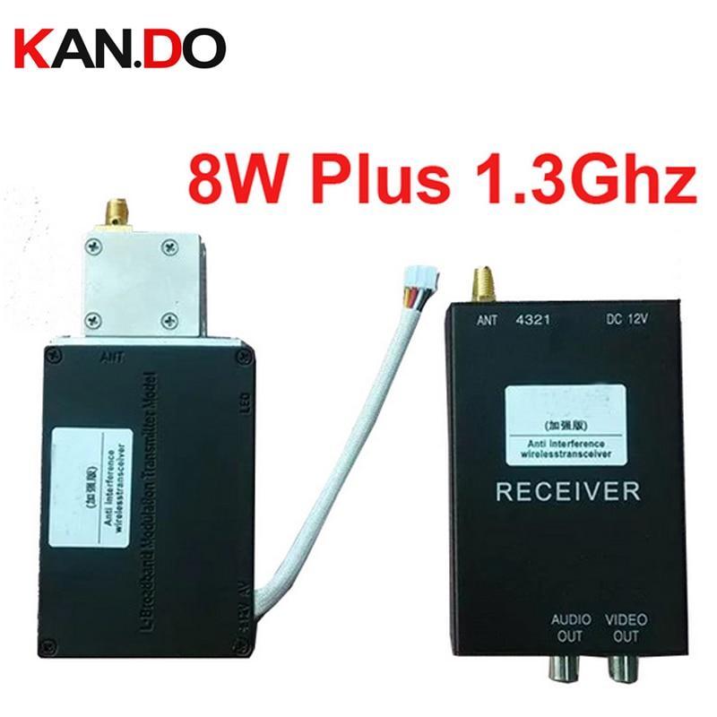 8W high quality 1 3G transceiver 1300mhz CCTV transmitter 1 3G FPV Transmitter Receiver 1 3G