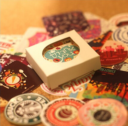 38 pcs set creative vintage themes stickers adhesive for Adhesive decoration