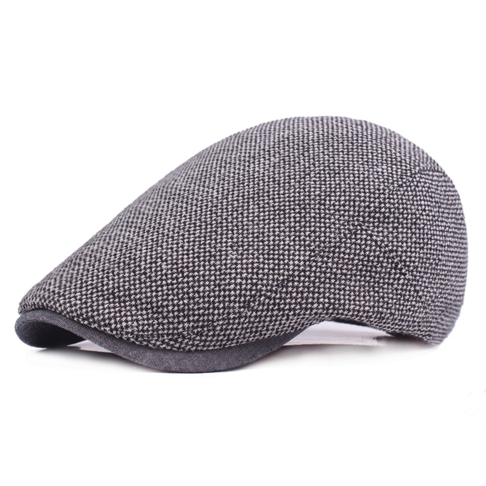 597e039b Winter Male Cap Hats Vintage Fashion Newsboy Gatsby Golf Driving Flat  Cabbie Cap For Men Dad Boyfriend Warm Peaked Hats-in Visors from Apparel  Accessories ...