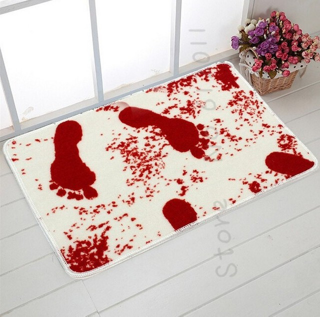 Novelty Blood Bath Mat Water Absorption Non Slip Bathroom Rug Home Carpet