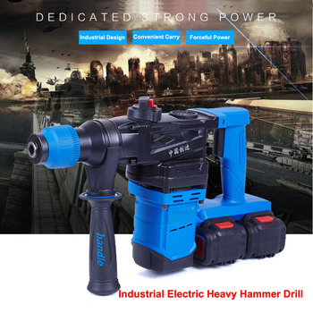 5000 10000mAh Industrial Heavy Wall Hammer Cordless Drill Lithium Battery Multifunctional Electric Hammer Impact Drill 5000 10000mah long duration hammer cordless drill rechargeable lithium battery multifunctional electric hammer impact drill