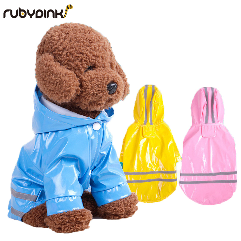 Summer Outdoor Puppy Pet Rain Coat S-XL Hoody Waterproof Jackets PU Raincoat For Dogs Cats Apparel Clothes By Rubydink
