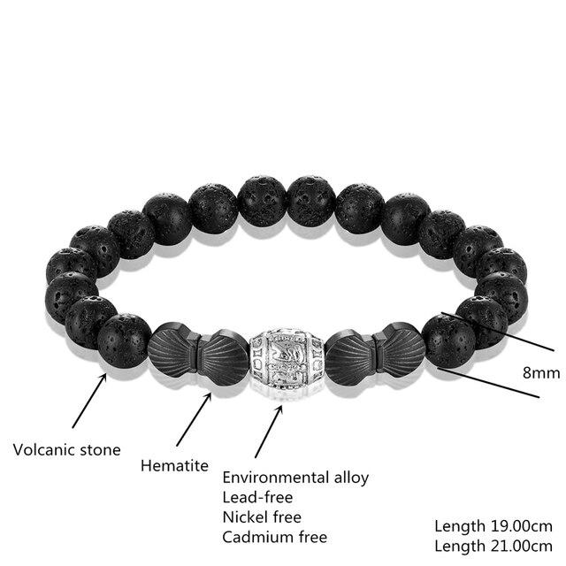 Фото хит буддизм вулкан камень браслет pulseras шесть символов пронзительный цена