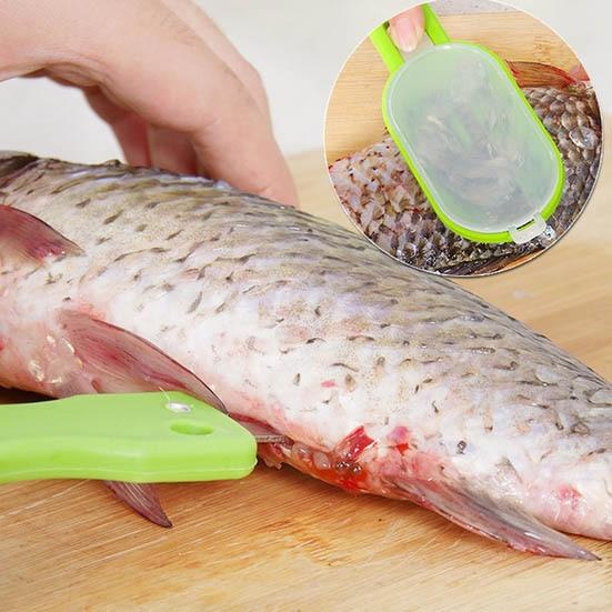 Skrobak do łuszczenia ryb Praktyczny łatwy do zeskrobywania wagi z - Zestawy narzędzi - Zdjęcie 1