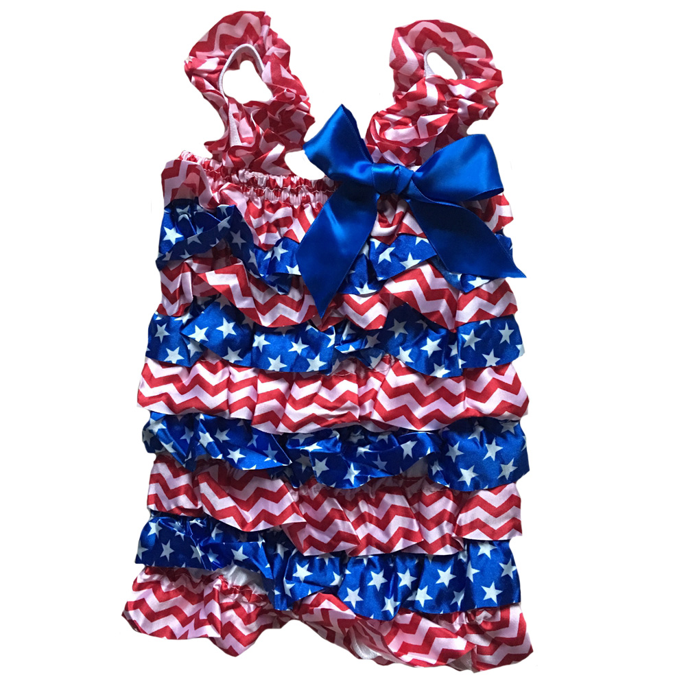366d161906d1 4th of July Romper Red White chevron Blue Lace Petti Stars and Stripes Baby  Girl Newborn Infant Toddler Child Holiday-in Rompers from Mother   Kids on  ...