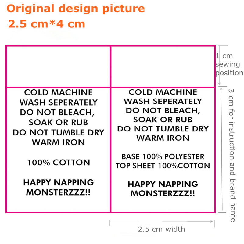 laundry wash instruction labels