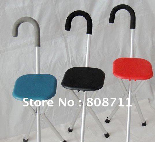Chair Seat, Portable Stool Cane, Multifunction Metal Walking Stick (for The  Old And