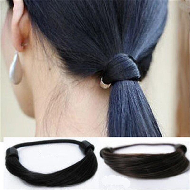 Women Wig Rubber Hair Rope Ponytail Holder Elastic Hair Band Hair Rubber Scrunchy Girls   Headwear   Hair Accessories