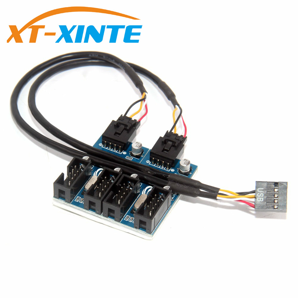 Multiple Circuit Board 9Pin Header 1 To 4 Extension Cable Easy Install Adapter Connectors Stable Motherboard USB Splitter Signal