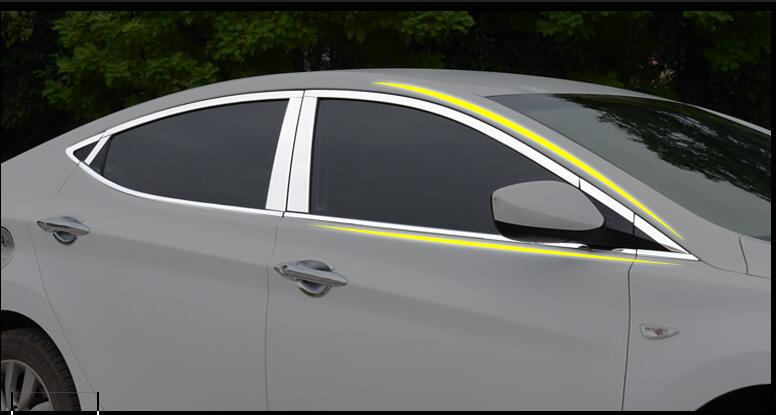 For Hyundai Elantra 2012 -2015 window trim cover decoration Exterior High quality Stainless steel car-styling products accessory все цены