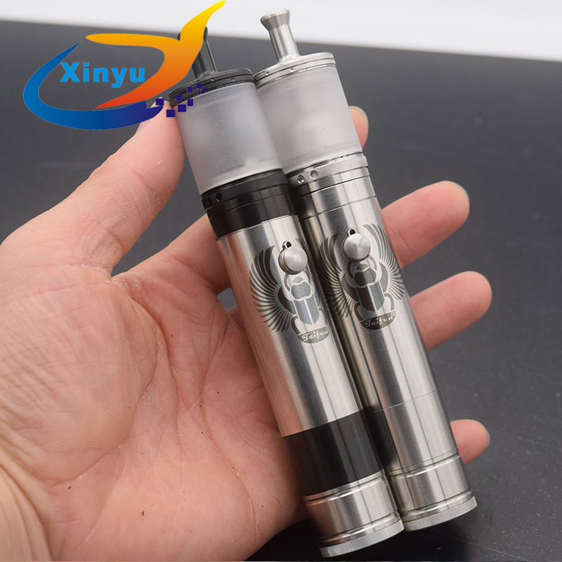 Sxk Taifun Gtr Rta Taifun Skarabaus Mod 23mm 4ml 21700 Battery Brass Vape 316 Ss Vaporizer Vape Vs Kayfun Lite Rta Vw Zero Mod