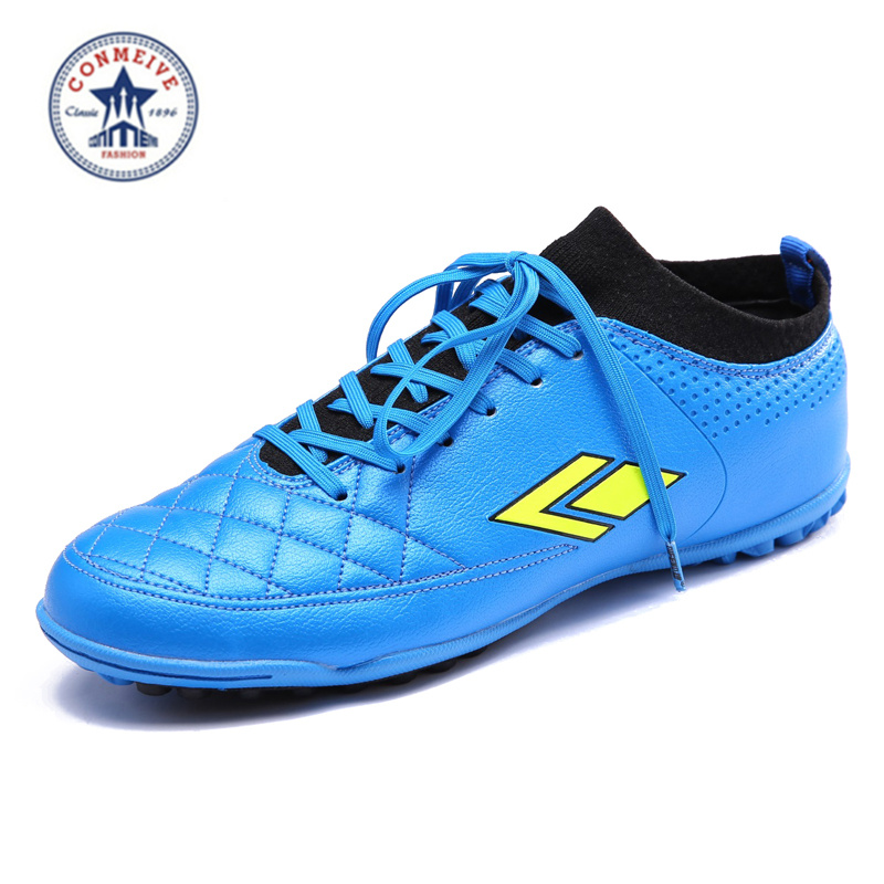 ФОТО 2016 Men Soccer Cleats boy Turf Football Soccer Shoes TF Hard Court Sneakers Trainers New Design kids football boots