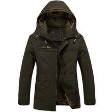 Warm Jackets Parka Outerwear Fur lined thicken Long Coat Hooded 3-COLORS