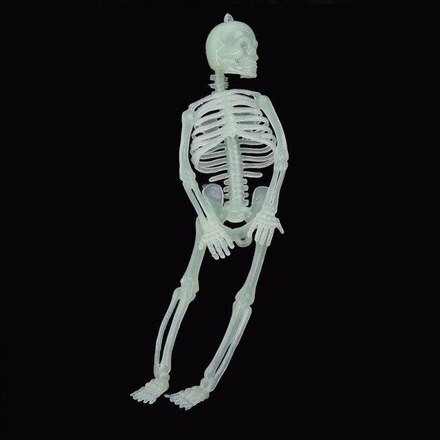 1 pc effrayant drle lumineux squelette halloween props parti bars lueur fentre tenture dcoration 787 pouces - Squelette Halloween