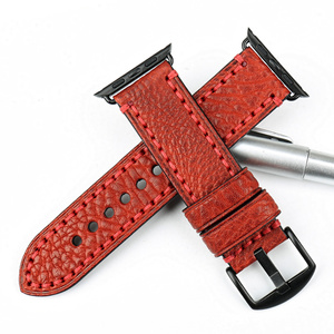 Image 4 - MAIKES New Watch Band For Apple Watch 44mm 40mm / 42mm 38mm Series 4 3 2 1 iWatch Special Genuine Leather Watch Strap Watchband