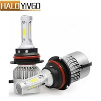 1Pair 9004 9007 COB LED Car Headlight Hi Lo Beam Bulb 72W 8000LM 6500K All In