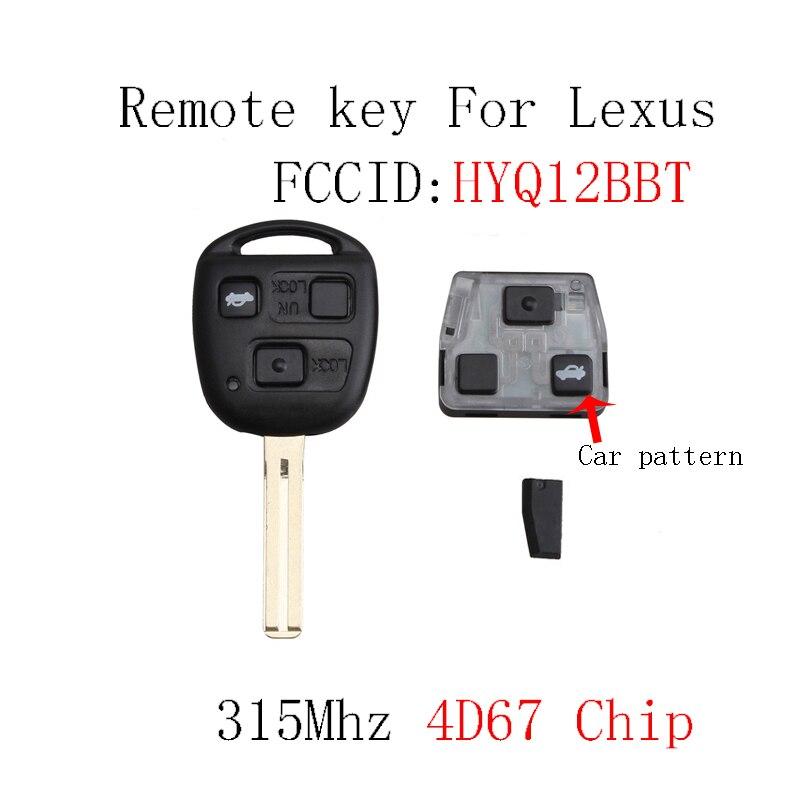 3Buttons 315Mhz Remote key For LEXUS SC430 2002-2010 For LEXUS ES330 LS430 HYQ12BBT Transponder 4D67 chip Original keys 3Buttons 315Mhz Remote key For LEXUS SC430 2002-2010 For LEXUS ES330 LS430 HYQ12BBT Transponder 4D67 chip Original keys