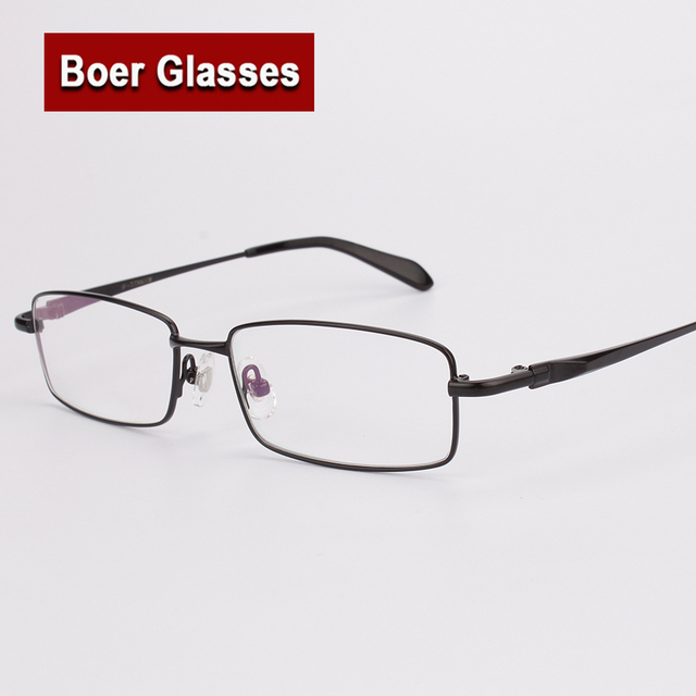 d55a45f948b2 Pure Titanium Men's Full Rim Eyeglasses Light Glasses Frame Prescription  Glasses YASHILU 9867