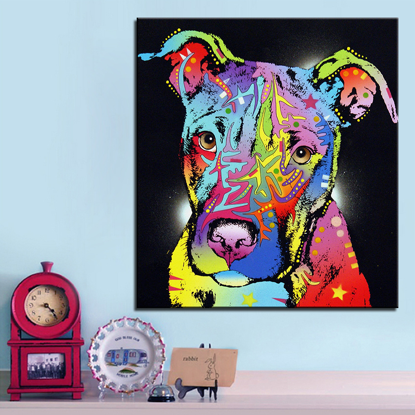 Pitbull Wall Art compare prices on bull wall art- online shopping/buy low price