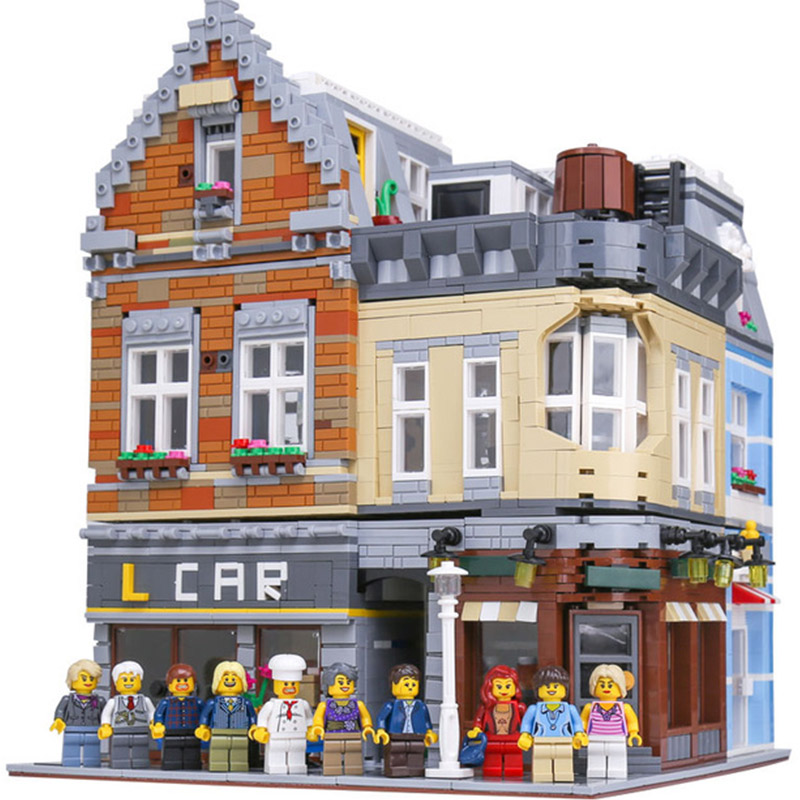 LEPIN 15034 Create MOC Series Corner Cafe Coffee Shop Building Blocks 4210pcs Bricks Toys Gift For Children садовый совок truper ggtl tr 15034