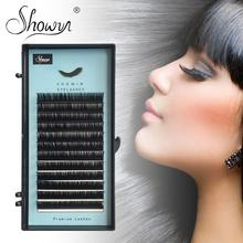 Individual Eyelash Extension Faux Mink Eyelashes Russian Volume False  Single Length Premium Lashes Extensions genie shadow lashes individual lashes double curl and length faux mink fit for volume eyelash extension make up eye lashes